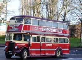 Double deckvintage wedding bus in Taunton